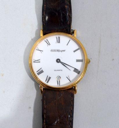 EMILE PEQUIGNET  Montre bracelet à cadran...