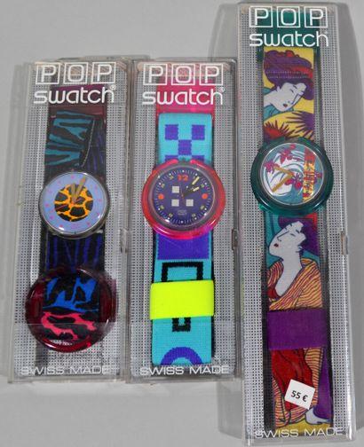 SWATCH  Lot de trois montres Série limitée...