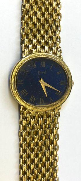 PIAGET  Montre bracelet de dame en or jaune...