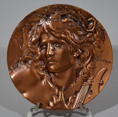 Louis COUDRAY  Importante médaille en bronze...