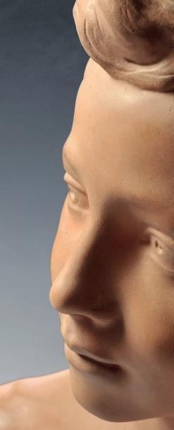 Jean-Baptiste CARPEAUX (1827-1875) Buste du Prince Impérial. Signé « J.B.CARPEAUX...