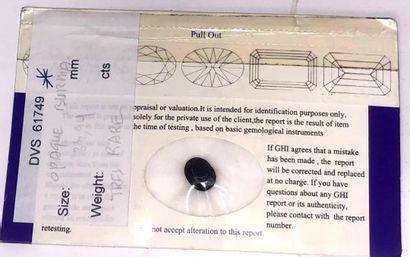 SERENDIBITE sur papier de taille ovale avec...