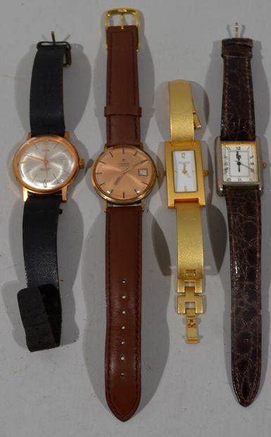 Lot de montres comprenant LIP, TISSOT, VIA...