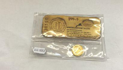 PIECE en or de 20 francs dites Napoléon coq...