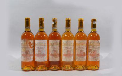 Six bouteilles Sauternes Château Filhot 2003...
