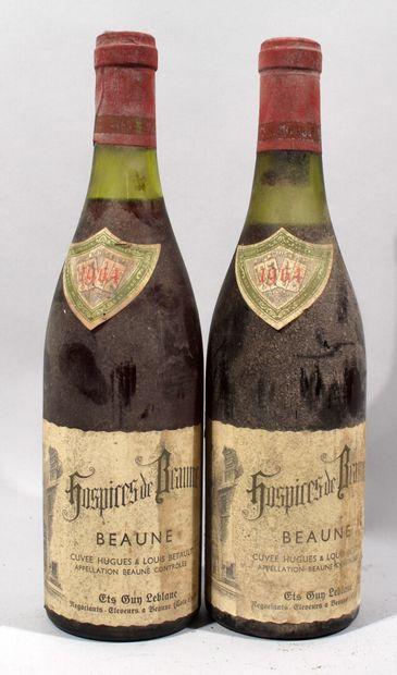 2 bouteilles de BEAUNE HOSPICES DE BEAUNE...
