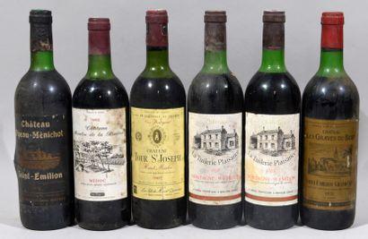 Deux bouteilles de CHATEAU LA TUILERIE PLAISANCE...