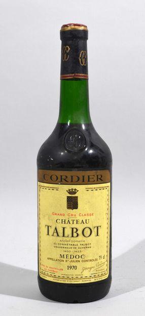 Une bouteille de CHATEAU TALBOT Médoc Georges...