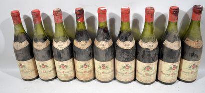 32 bouteilles de GEVREY CHAMBERTIN Desvignes...
