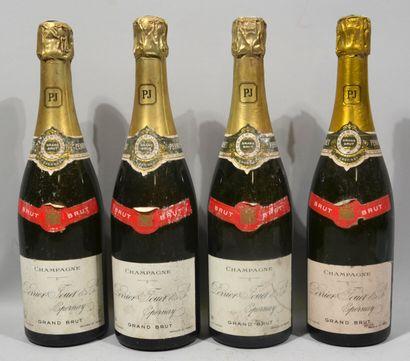4 bouteilles de CHAMPAGNE PERRIER JOUËT Grand brut