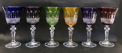 BOHEMIA CRYSTAL  Ensemble de six verre à...