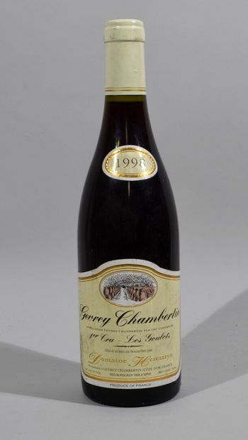 Une bouteille de GEVREY CHAMBERTIN 1er Cru...