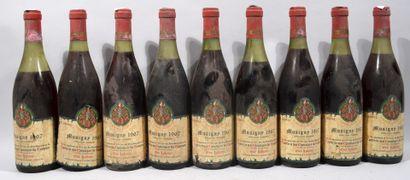 9 bouteilles de MUSIGNY Confrérie des Chevaliers...