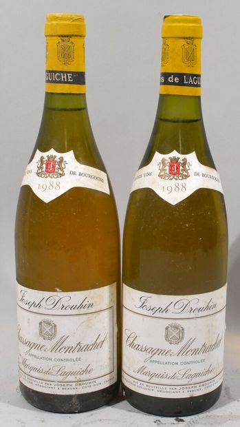2 bouteilles de CHASSAGNE MONTRACHET «Marquis...