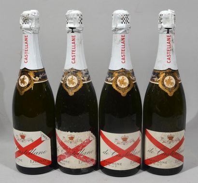 4 bouteilles de CHAMPAGNE DE CASTELLANE Brut...