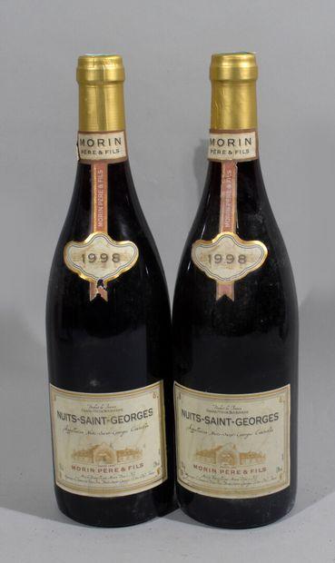 2 bouteilles de NUITS SAINT GEORGES 1998...