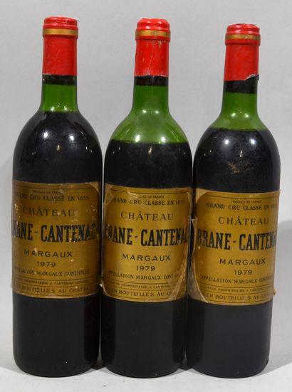 3 bouteilles de CHATEAU BRANE CANTENAC Margaux...