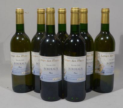 7 bouteilles de LOUPS DES MERS Bordeaux blanc...