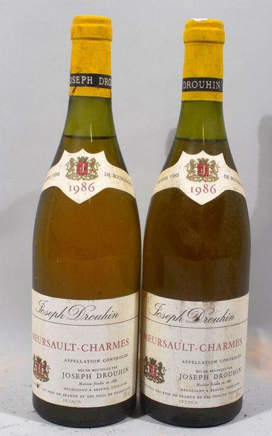 2 bouteilles de MEURSAULT blanc Premier Cru...