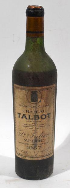 1 bouteille de Chateau TALBOT 1937 Ancien...