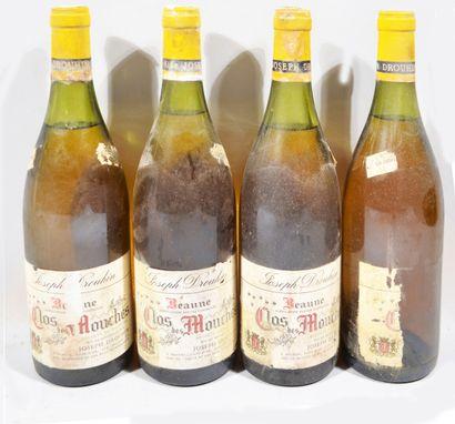 4 bouteilles de BEAUNE Premier Cru «Clos...