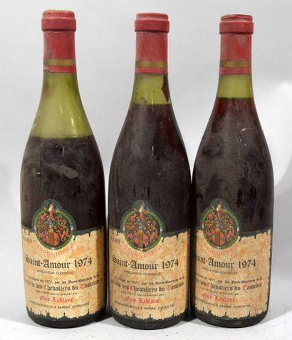 3 bouteilles de SAINT AMOUR Beaujolais Guy...