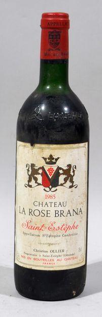 Une bouteille de CHATEAU LA ROSE BRANA Saint...