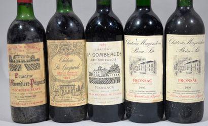 Une bouteille de CHATEAU LA GASPARDE Cotes de Castillon R.B. Père et fils propriétaires...