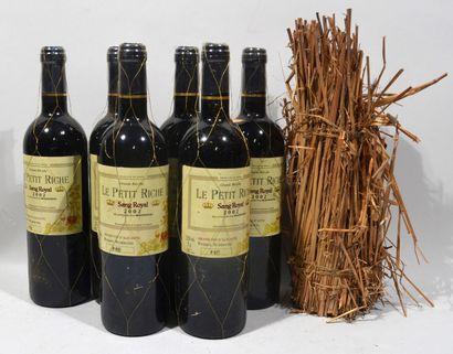 7 bouteilles de LE PETIT RICHE Sang Royal Grand Vin d'Alicante 2002