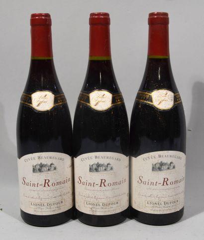 3 bouteilles de SAINT ROMAIN rouge Lionel...