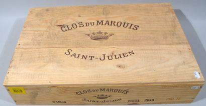 6 Bouteilles SAINT-JULIEN - CLOS DU MARQUIS...