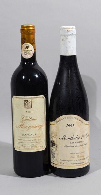 Une bouteille de CHATEAU MONGRAVEY Margaux...