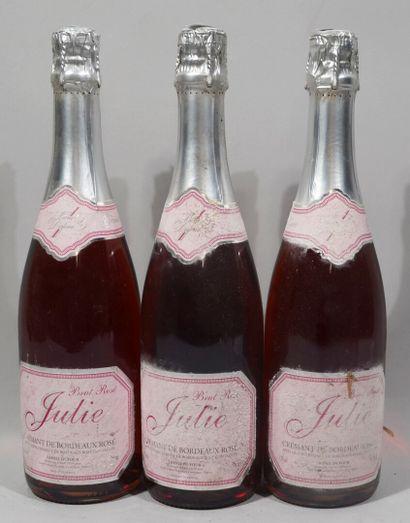 3 bouteilles de CREMANT DE BORDEAUX ROSE...