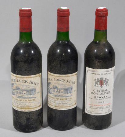 2 bouteilles de CHATEAU LARCIS JAUMAT Saint...