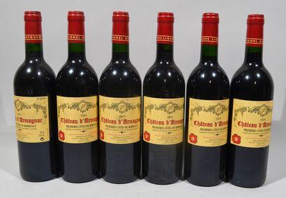 6 bouteilles de CHATEAU D'ARMAGNAC Premières...