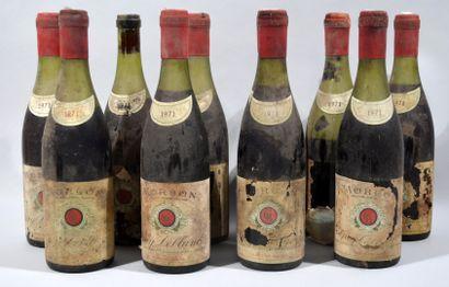 10 bouteilles de MORGON Guy Leblanc négociant...