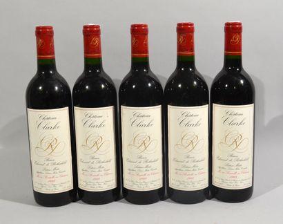 5 bouteilles de CHATEAU CLARKE Baron Edmond...