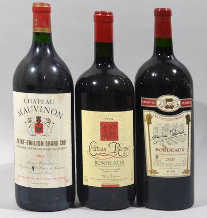 3 magnums de Bordeaux dont Château Mauvinon...
