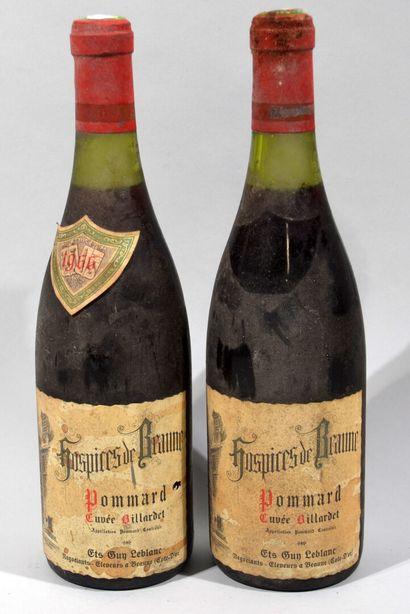 2 bouteilles de POMMARD Hospices de Beaune...