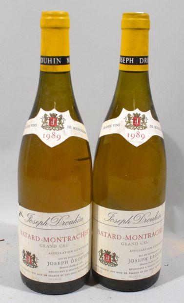 2 bouteilles de BATARD MONTRACHET Joseph...