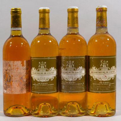 Trois bouteilles Chartreuse de Coutet, Sauternes,...