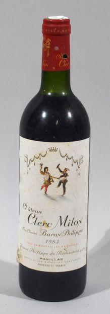 1 bouteille de CHATEAU CLERC MILON Cru classé...