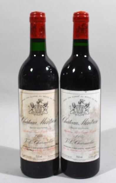 2 bouteilles de CHATEAU MOTROSE Saint-Estèphe...