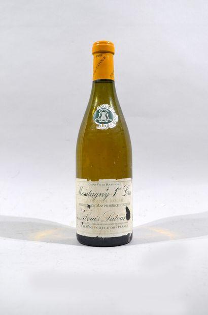 Une bouteille de Montagny premier cru, Domaine...