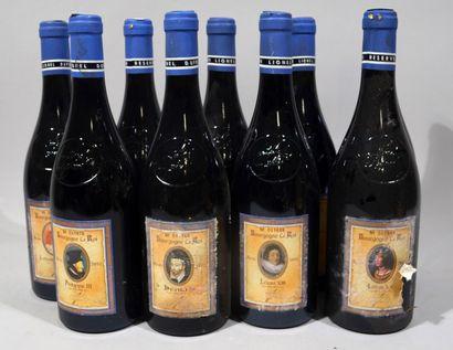9 bouteilles de BOURGOGNE rouge Le Roi Charles...
