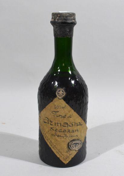 1 bouteilles de FINE D'ARMAGNAC Ségazan....