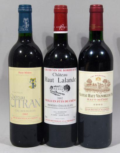 Une bouteille de CHATEAU HAUT VIGNOBLE DU PARC Haut-Médoc Chateau Domeyne propriétaires...