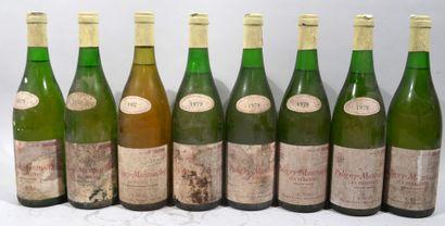 7 bouteilles de PULIGNY MONTRACHET «Les...