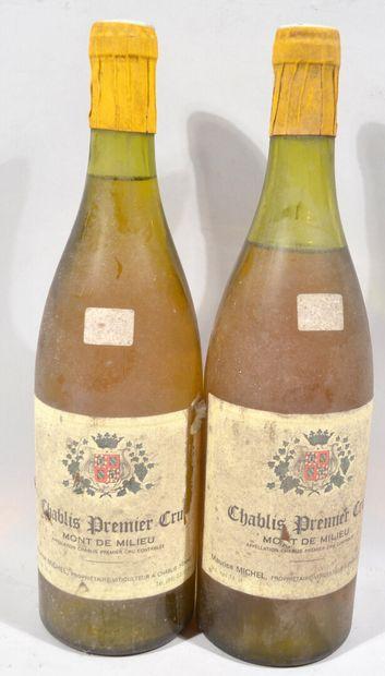 2 bouteilles de CHABLIS Premier Cru «Mont...
