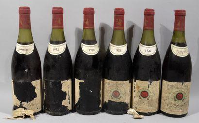 6 bouteilles de POMMARD Guy Leblanc 1978...
